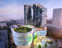 modular 3D Skyscraper Business Center