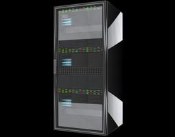 CPU Server Rack Unit 3D Model