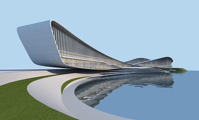 streamlined architecture 3d model max obj fbx mtl tga 1