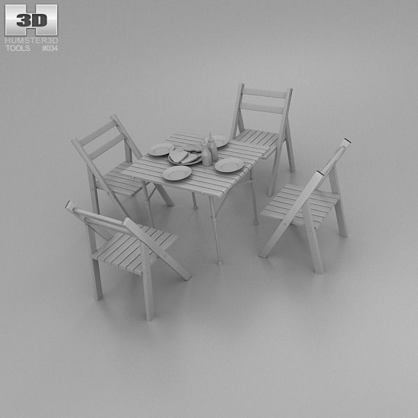 Barbecue table 3d model max obj 3ds fbx c4d lwo lw lws for Outdoor furniture 3d warehouse