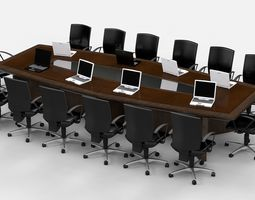 Meeting Table King 3D model