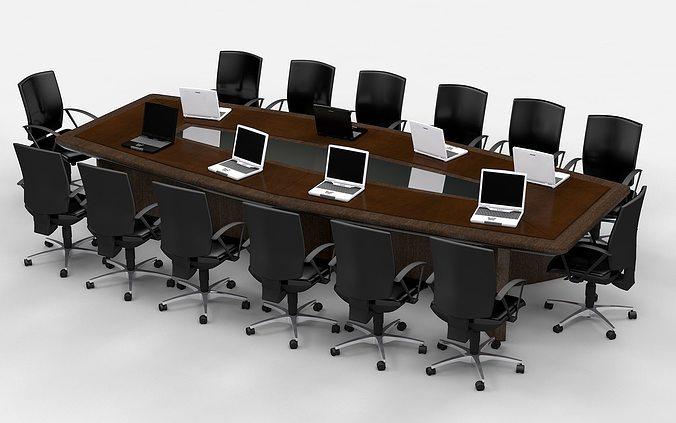 meeting table king 3d model obj mtl 3ds fbx c4d 1