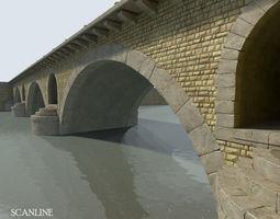 arched stone bridge 3d model max obj fbx