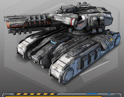 3d model realtime scifi heavy tank - mk4