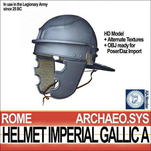 roman legionary helmet imperial gallic a 3d model obj 3ds c4d dxf vue mat 1