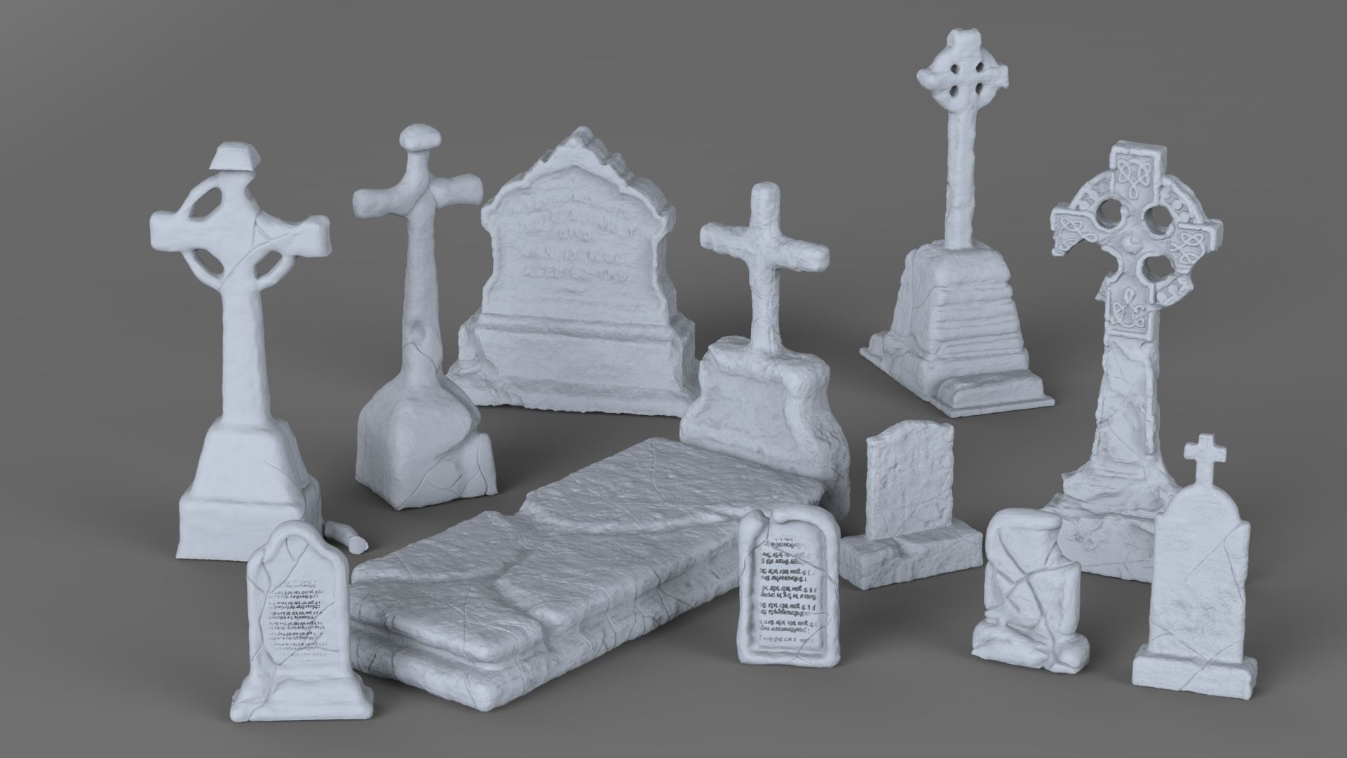 Weathered Tombstone Collection