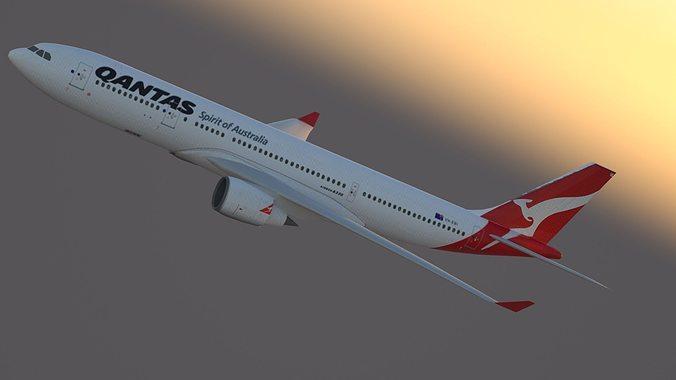 Airbus A330-200 Qantas Livery