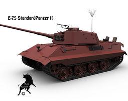 E-75 StandardPanzer II 3D Model