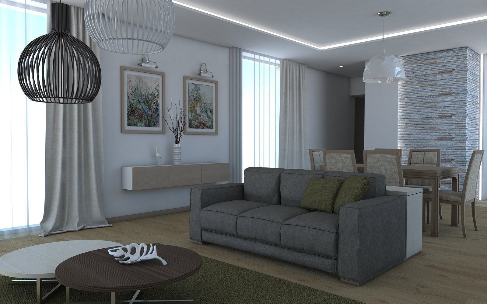 Living room 10 3d model skp for Living room 3d model