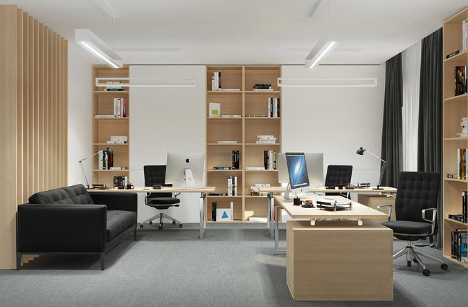office ny 3d model max obj mtl 1