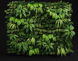 green wall 3d