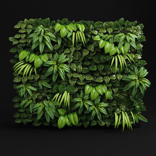green wall 3d model max obj mtl 3ds fbx stl 1