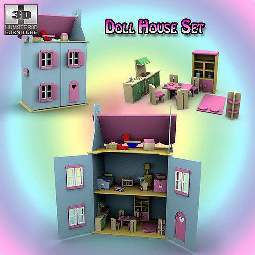 3d Asset Doll House Set 01 Cgtrader