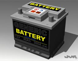 Generic Car Battery 3D Model