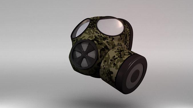 gas mask 3d model obj fbx ma mb mtl 1