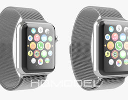 apple watch steel milanaise 3d animated