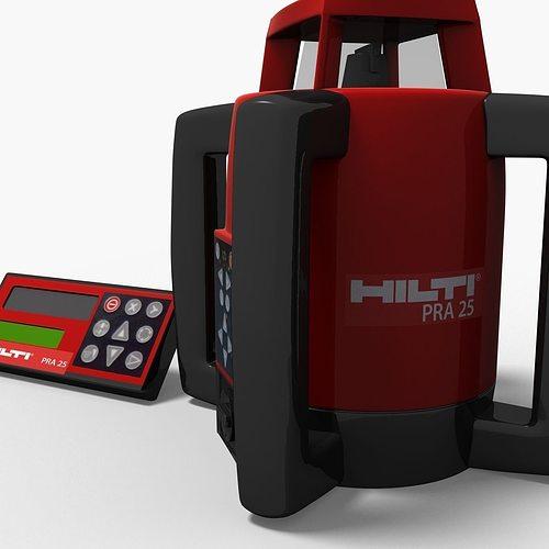 hilti rotary laser rp25 3d model max obj mtl tga 1