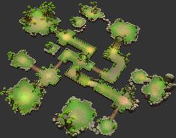 floating islands - fantasy environment pack 3d model
