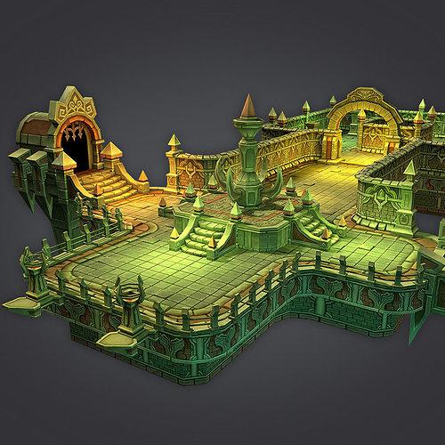cloudy dungeon 3d model low-poly max obj mtl fbx tga 1