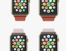 apple watch edition yellow rose gold modern all color 3d model animated max obj