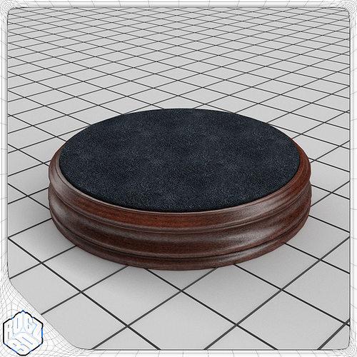living space carpet display stand turntable 3d model obj 3ds fbx blend mtl 1
