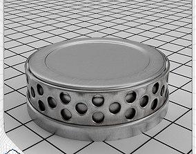 3D model Metal Collar Display Stand Turntable