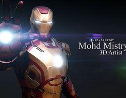 iron man mark 42 - rigged - 3d model obj ma mb