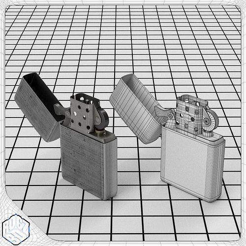 windproof lighter 3d model obj 3ds fbx blend mtl 1