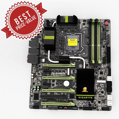 motherboard gigabyte g1 sniper 3 3d model max obj mtl tga 1