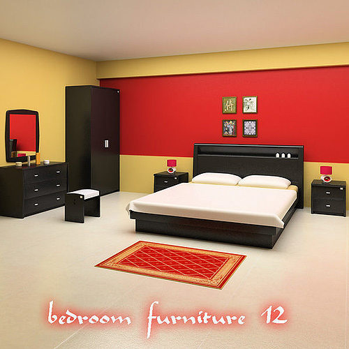 Bedroom Furniture 12 Set 3d Asset Cgtrader