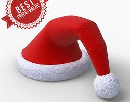 3d model christmas cap animated