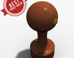 rubber stamp circle 3d
