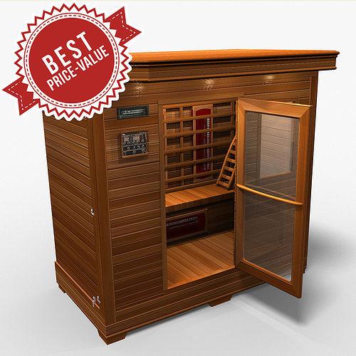 sauna 3d model max obj mtl 1