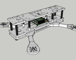 quadcopter 250mm 3D printable model