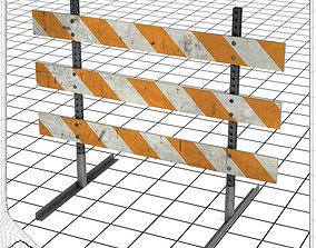 3D model Type III Construction Barricade