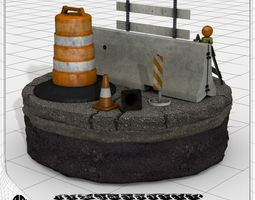 3d construction and traffic safety set