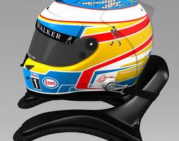 3D asset Fernando Alonso Helmet 2015