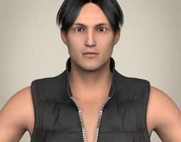 realistic young handsome man 3d