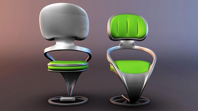 chair pack 3d model obj fbx ma mb mtl 1