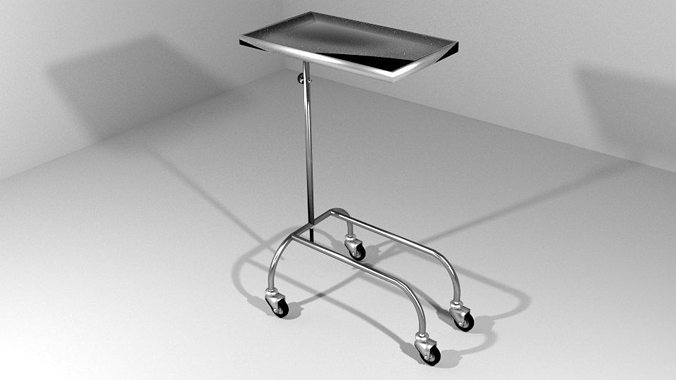 hospital furniture operation trolley 3d model obj mtl 3ds lwo lw lws blend dae 1