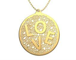 3d printable model necklace love