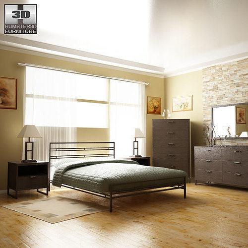Ashley Sonya Metal Bedroom SET 3D model | CGTrader