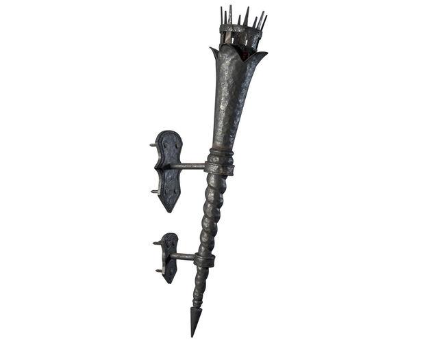 medieval torch 3d model obj fbx blend