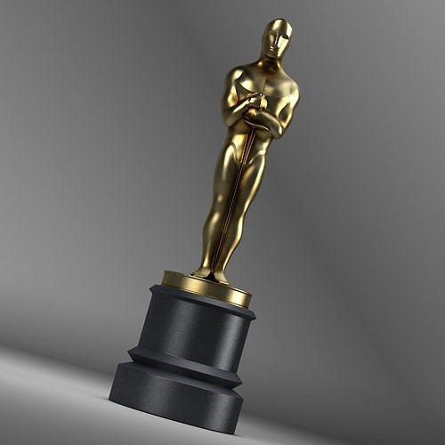 Oscar Trophy D Model