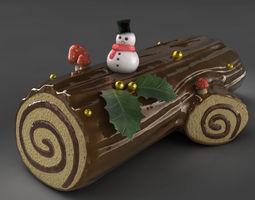 Yule Log 3D model