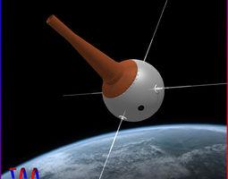 3D Vanguard III Satellite