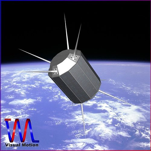 us uhf satellite 3d model obj 3ds fbx dxf blend dae 1