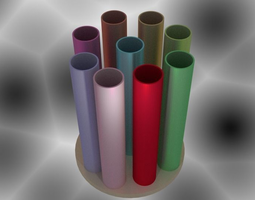 3D printable model Cylinders Vase