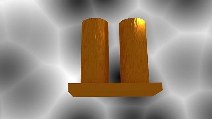 2 cylinder vase 3d model  1