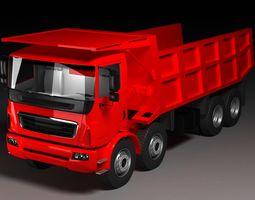 3D model construction site truck